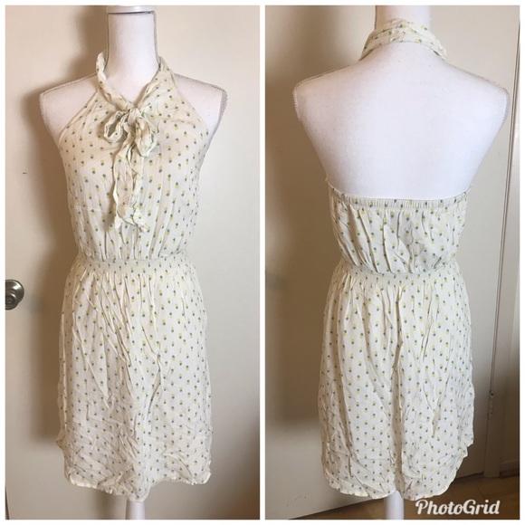 Jessica Simpson Pineapple Halter Mini Dress Small